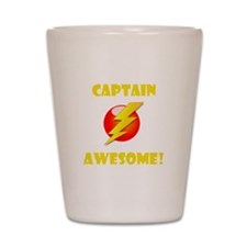Captain Awesome! Shot Glass