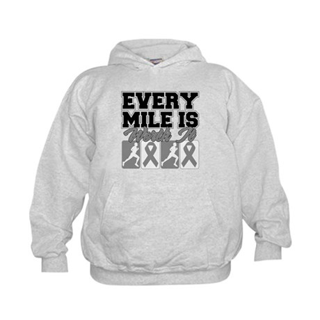 Diabetes Every Mile (Men) Kids Hoodie