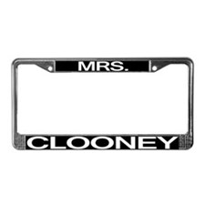 Mrs. Clooney License Plate Frame