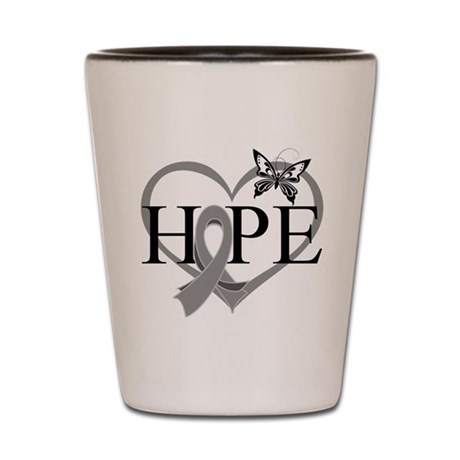 Diabetes Hope Heart Shot Glass