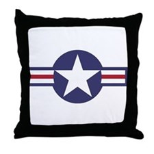 USA Roundel Throw Pillow