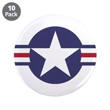 "USA Roundel 3.5"" Button (10 pack)"