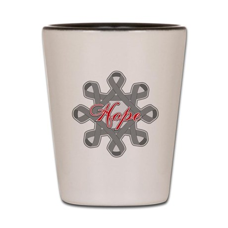 Diabetes Hope Ribbons Shot Glass