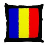 Romanian Flag Throw Pillow