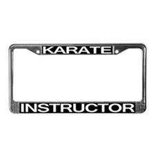 Karate Instructor License Plate Frame
