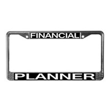 Financial Planner License Plate Frame