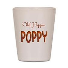 OLD HIPPIE POPPY Shot Glass