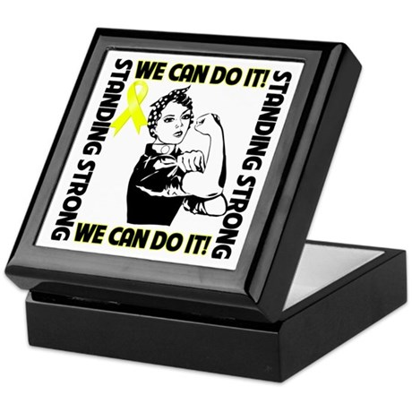 Bladder Cancer We Can Do It Keepsake Box