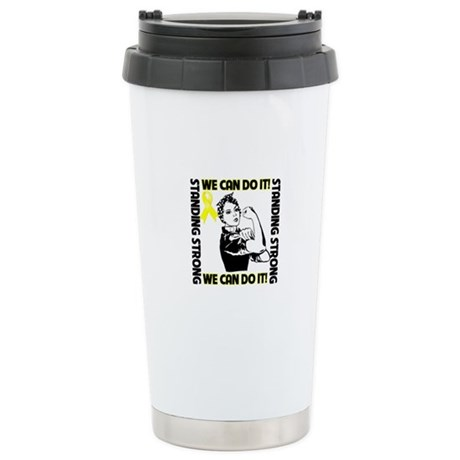 Bladder Cancer We Can Do It Ceramic Travel Mug