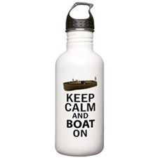 Keep Calm and Boat On Water Bottle
