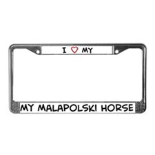 I Love Malapolski Horse License Plate Frame