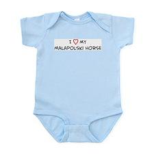 I Love Malapolski Horse Infant Creeper