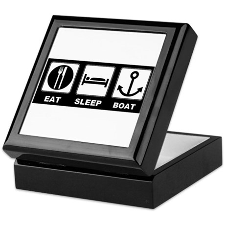 Eat Sleep Boat Keepsake Box