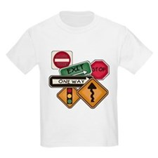 Road Signs Kids T-Shirt