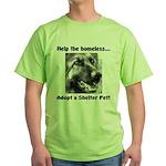Help The Homeless Green T-Shirt