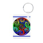 Celtic Artwork Designs Aluminum Photo Keychain