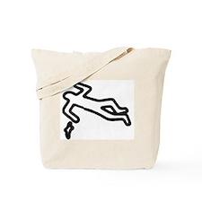 Murder, Inc. Chalk Outline Tote Bag