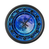 Clock of the Blue Moon Large Wall Clock
