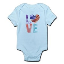 LOVE - PROUD TO BE AMERICAN Infant Bodysuit
