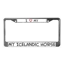 I Love Icelandic Horse License Plate Frame
