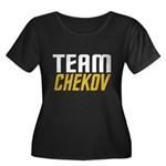 Team Checkov Women's Plus Size Scoop Neck Dark T-S