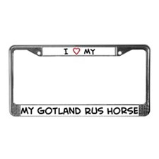 I Love Gotland Rus Horse License Plate Frame