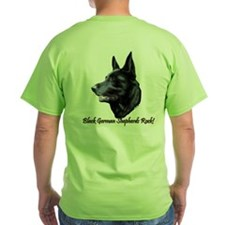Black German Shepherds Rock T-Shirt