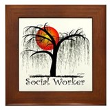 Social Worker III Framed Tile