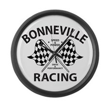 Bonneville Racing Large Wall Clock