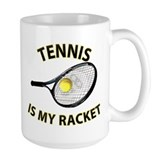 Tennis Racket Ceramic Mugs
