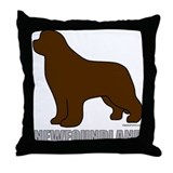 Brown Newfoundland Throw Pillow