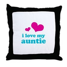 I Love My Auntie Throw Pillow