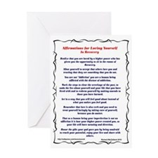 Loving Affirmations in Recovery Greeting Card