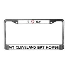 I Love Cleveland Bay Horse License Plate Frame