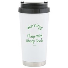 Warning - Sharp Tools Ceramic Travel Mug