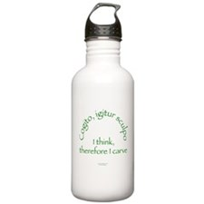 I Think, Therefore I Carve Water Bottle
