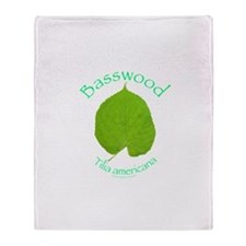 Basswood Leaf 1 Throw Blanket