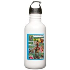 Cute Woodcarving Water Bottle
