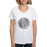 Zebra Art Women's V-Neck T-Shirt
