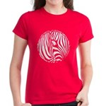 Zebra Art Women's Dark T-Shirt