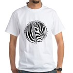 Zebra Art White T-Shirt