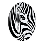 Zebra Art Ornament (Oval)