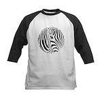 Zebra Art Kids Baseball Jersey