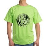 Zebra Art Green T-Shirt