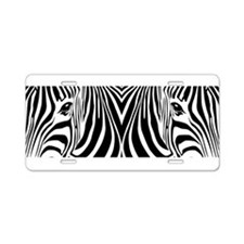 Zebra Art Aluminum License Plate