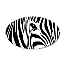Zebra Art 38.5 x 24.5 Oval Wall Peel