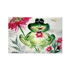"""Sunny Day Frog"" Rectangle Magnet (100 pack)"