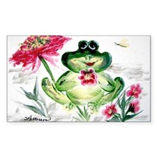 """Sunny Day Frog"" Rectangle Decal"