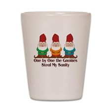 One By One The Gnomes Shot Glass