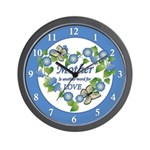 Mother's Love Heart Wall Clock